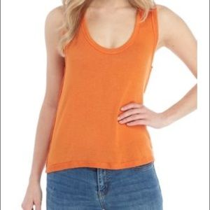 Free People Womens OB948615 Top Relaxed Orange S